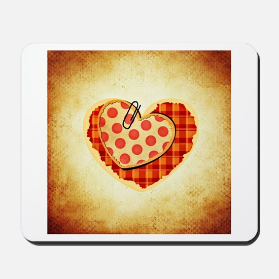 Checkered & Polka Dot Hearts Mousepad