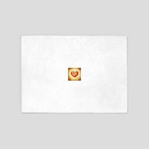 Checkered & Polka Dot Hearts 5'x7'Area Rug