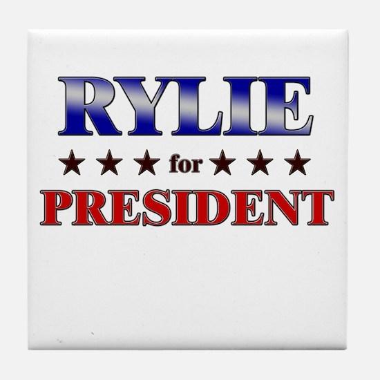 RYLIE for president Tile Coaster
