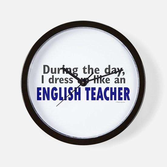 Dress Up Like An English Teacher Wall Clock