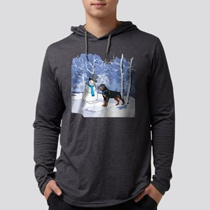 Rottweiler & Snowman Christmas Long Sleeve T-Shirt
