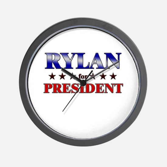 RYLAN for president Wall Clock