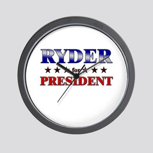 RYDER for president Wall Clock