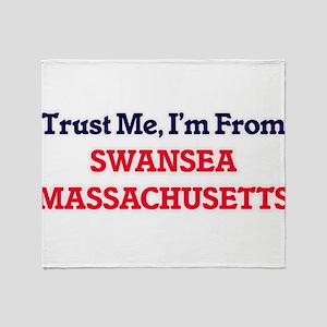 Trust Me, I'm from Swansea Massachus Throw Blanket