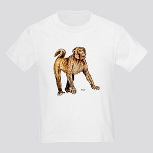 Macaque Monkey (Front) Kids T-Shirt