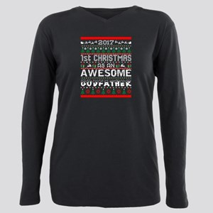 2017 First Christmas Awesom Godfather Ugly T-Shirt