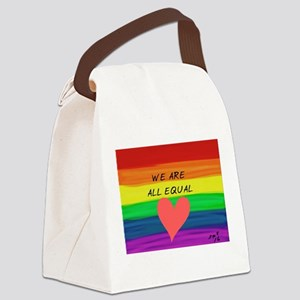 We are all equal heart Canvas Lunch Bag