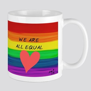 We are all equal heart Mugs