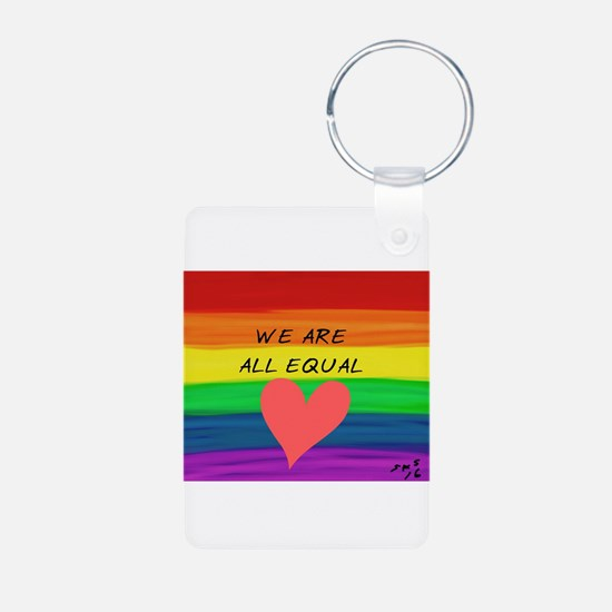We are all equal heart Keychains