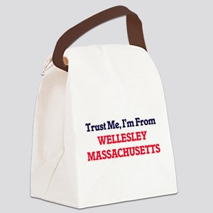 Trust Me, I'm from Wellesley Mass Canvas Lunch Bag
