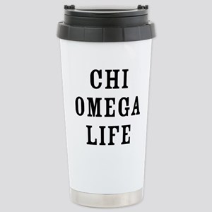 Chi Omega Life 16 oz Stainless Steel Travel Mug