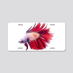 Betta Fish Aluminum License Plate