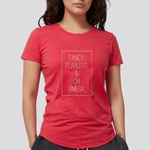 Chi Omega Fancy Womens Tri-blend T-Shirt