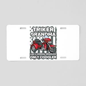 Motorcycle Triker Grandma Aluminum License Plate