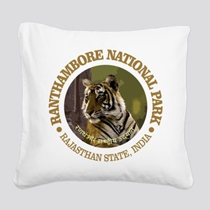 Ranthambore NP Square Canvas Pillow