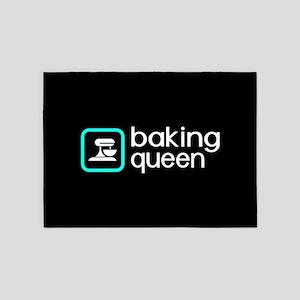 Baking Queen (Blue) 5'x7'Area Rug
