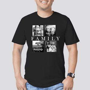 Family Personalized Men's Fitted T-Shirt (dark)