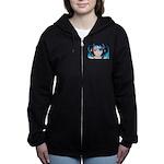 CyberBlue Women's Zip Hoodie