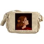 Looking Back - Red Messenger Bag
