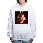 Looking Back - Red Women's Hooded Sweatshirt