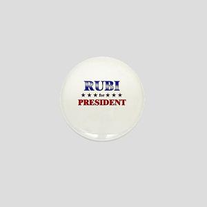 RUBI for president Mini Button