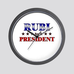 RUBI for president Wall Clock