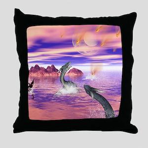 Awesome seadragon Throw Pillow
