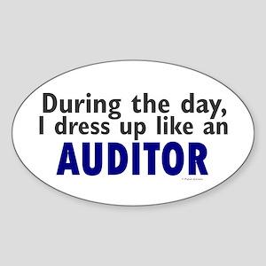 Dress Up Like An Auditor Oval Sticker