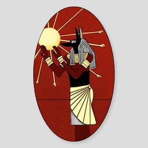 Anubis Oval Sticker