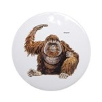 Orangutan Ape Keepsake (Round)