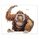 Orangutan Ape Small Poster