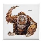 Orangutan Ape Tile Coaster
