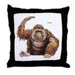 Orangutan Ape Throw Pillow