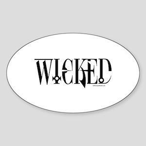 WICKED Oval Sticker