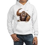 Orangutan Ape (Front) Hooded Sweatshirt