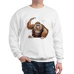 Orangutan Ape (Front) Sweatshirt
