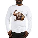 Orangutan Ape (Front) Long Sleeve T-Shirt