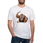 Orangutan Ape (Front) Fitted T-Shirt