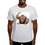Orangutan Ape (Front) Ash Grey T-Shirt