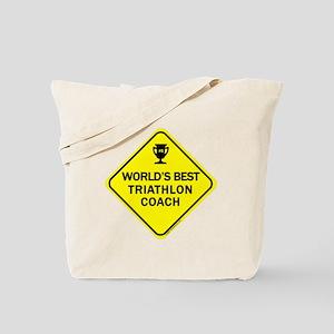 Triathlon Coach Tote Bag
