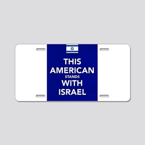Stand with Israel Aluminum License Plate