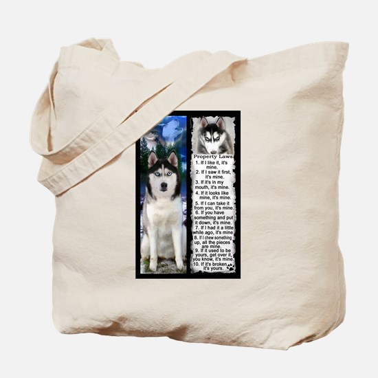 Siberian Husky Dog Laws Rules Tote Bag