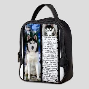 Siberian Husky Dog Laws Rules Neoprene Lunch Bag