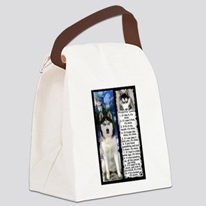Siberian Husky Dog Laws Rules Canvas Lunch Bag