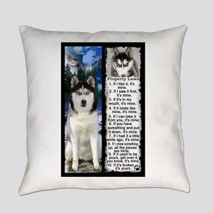 Siberian Husky Dog Laws Rules Everyday Pillow