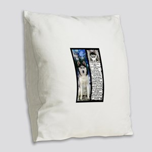 Siberian Husky Dog Laws Rules Burlap Throw Pillow