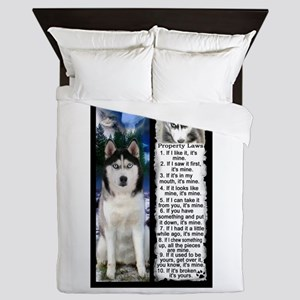 Siberian Husky Dog Laws Rules Queen Duvet