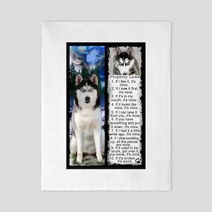Siberian Husky Dog Laws Rules Twin Duvet