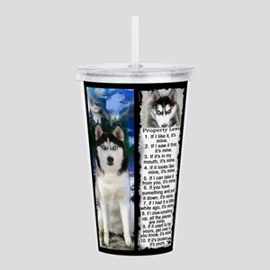 Siberian Husky Dog Laws Rules Acrylic Double-wall