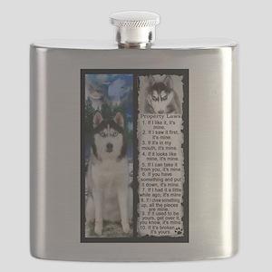 Siberian Husky Dog Laws Rules Flask